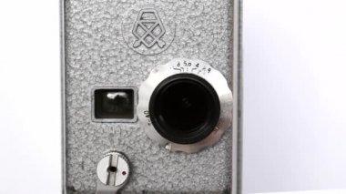 Old Hand Held Reel Film Camera 9 — Stock Video