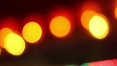 Pulsating Warm Lights Bokeh — Stock Video