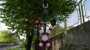 Railroad Train Alarm — Stock Video