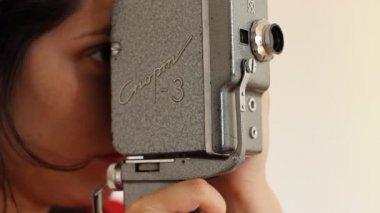 Retro 8mm Film Camera — Stock Video