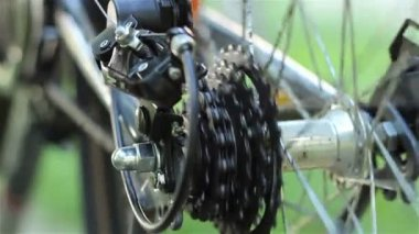 Rear Bicycle Gears — Stock Video