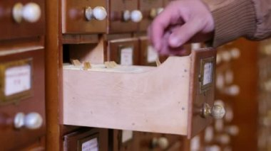 Search Old Database Files — Stock Video