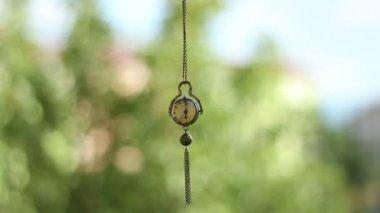 Swinging Hypnotic Clock Pendulum — Stock Video