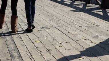 Tread On Feet — Stock Video