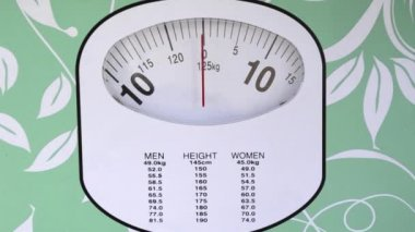 Woman Weight Controlling Test — Stock Video