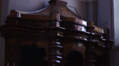 Church Confessional — Stock Video