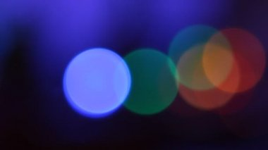 Color Circles Bokeh — Wideo stockowe