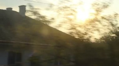 Morning Sun on Moving Train — Stock Video