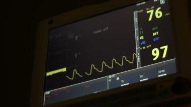Nighttime Vital Functions Monitor — Stock Video