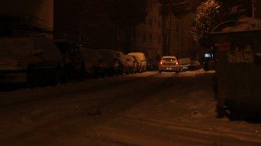 Snowed Neighborhood — Vídeo de Stock