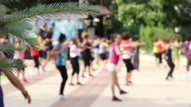 People Doing Aerobics Exercises — Stock Video