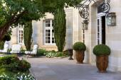 Terrace of a French mansion — Stock Photo