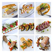 Gastronomy collage — Stock Photo