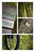Trek collage — Stock Photo