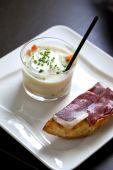 Ham and vegetable cream — Stock Photo