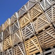Pile of wooden crates — Stock Photo #63008293