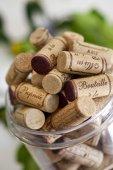 Uzávěry lahví vína — Stock fotografie