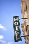 Hotel teken — Stockfoto