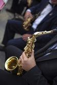 Saxophonists — Stock Photo