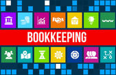 Bookkeeping  concept image with business icons and copyspace. — Stock Photo