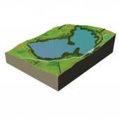 Ecosystem terrain water — Stock Photo