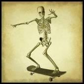 Skater skeleton — Stock Photo