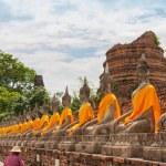 AYUTTHAYA,THAILAND-JUNE 27, 2013: Watyaichaimongkol — Stock Photo #60491489