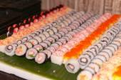 Row of sushi — 图库照片