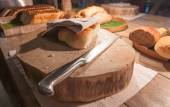 Bread and bakeries(be partly consumed) — Stock Photo