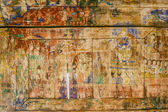 Pale and ruin Thai painting in Pratart Lampangluang Temple,Thail — Stock Photo