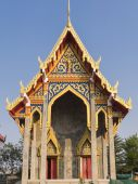 Built new chapel in Temple, Bangkok,Thailand — Stock Photo