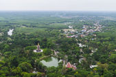 Suburbs in Thailand country aerial view — Stock Photo