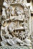 Hoyasala temple sculpture at Halebid, Karnataka, India — Stock Photo