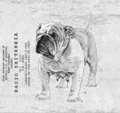 British bulldog greeting Cloth — Stock Photo