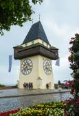 Clock tower, Graz, Österrike — Stockfoto