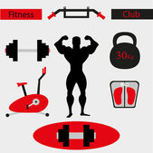 Fitness gym icons — Stock Vector