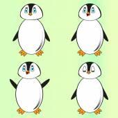 Cheerful penguin — Stock Vector
