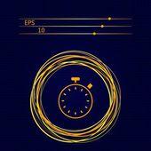 Stopwatch flat icon — Stock Vector