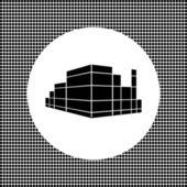 Entertainment center mark — Stock Vector
