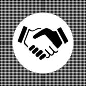 Business icon friendship handshake — Vecteur