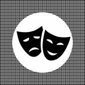 Masks icon — Stock Vector