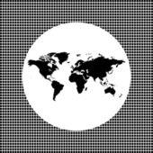 World map icon — Stock Vector