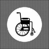 Black sign wheelchair — Stock Vector