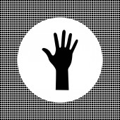 Hand black sign — Stock Vector