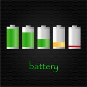 Set of battery condition — Stock Vector