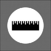 Black ruler on the net background — Stock Vector