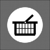Supermarket shopping basket — Stock Vector