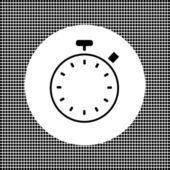 Kronometre düz simgesi — Stok Vektör