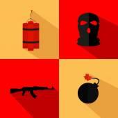 Terrorism icons design — Stock Vector