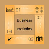 Business statistics background — Stock Vector